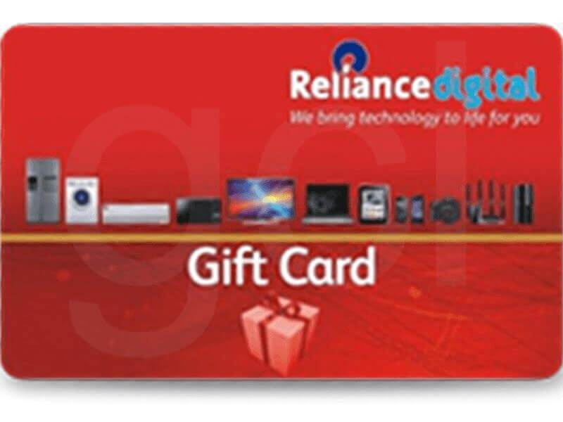 Reliance Digital Gift Card Rs. 1000 Onwards